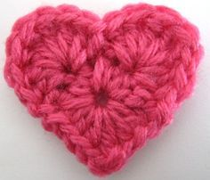 Free crochet heart pattern - this could use a little tweaking so that it lays correctly without blocking (and there's an ad partially in the way that I don't feel like signing up for spam to get rid of).