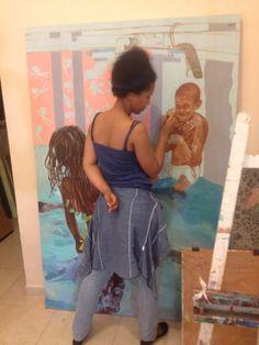 Yo pintando...#arte#talleresdearte2015.#clasespersonalizada#galerias#Artvisual#niños#art#art#oilpainting#acrilico#moda#ArteInternacional#diseño#talleres internacionales#Isco7ArtStudio##familiaRamirezDiaz#Studio#arteemergente#taller#dibujo#chavoneros#bellosartistas#pintura#class#