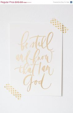 Calligraphy Bible Verse // Be Still // by WrittenWordDesign Bible Quotes, Bible Verses, Scriptures, Scripture Art, Bible Art, Hand Type, Brush Lettering, Christian Quotes, Gods Love
