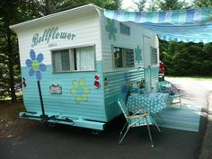 1964 Vintage Camper So cute but my husband would not step one foot inside..lol
