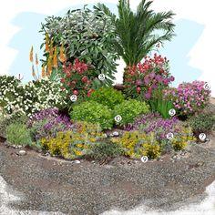 Projet aménagement jardin : Jardin sec Projet aménagement jardin : Jardin sec Backyard Garden Landscape, Dry Garden, Small Backyard Gardens, Garden Oasis, Garden Trees, Small Gardens, Garden Fun, Large Backyard, Balcony Garden