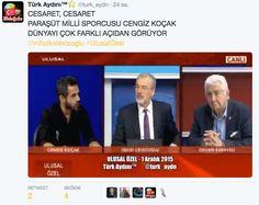 Türk Aydını™⭐️ @turk_aydn  CESARET, CESARET PARAŞÜT MİLLİ SPORCUSU CENGİZ KOÇAK  DÜNYAYI ÇOK FARKLI AÇIDAN GÖRÜYOR @mhulkicevizoglu #UlusalÖzel