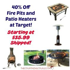 WOW! What a great deal! Save 40% off Fire Pits and Patio Heaters at Target! Prices start at $35.99 shipped!  Click the link below to get all of the details ► http://www.thecouponingcouple.com/40-off-fire-pits-and-patio-heaters-starting-at-35-99/  #Coupons #Couponing #CouponCommunity  Visit us at http://www.thecouponingcouple.com for more great posts!