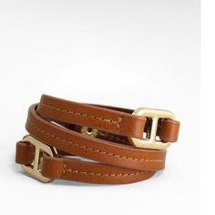 46c3d6c07d53 Vintage Tory Burch Leather Wrap Bracelet Dress Me Up
