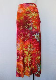 Small Tie dye Maxi Skirt ice dye - Confetti twisties Beautiful ice dyed piece by A Spoonful of Colors Find this item on https://aspoonfulofcolors.com