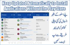 Keep Updated Automatically to Install Applications Without the Play Store