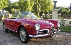 Giulietta Spider. Wish I had one of the special Giuliettas that Al Leake used to update with 115 mechanicals...