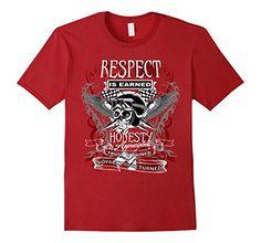 Respect Is Earned, Biker T Shirts, Honesty, Amazon, Mens Tops, Fashion, Moda, Amazons, Riding Habit