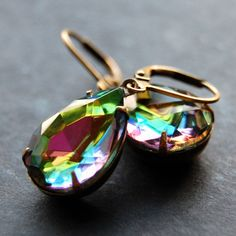 Hey, I found this really awesome Etsy listing at https://www.etsy.com/listing/180022835/estate-style-rainbow-glass-earrings