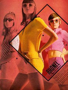 60s advertisement for Rhonel jersey fabrics (via: theswingingsixties)