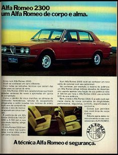 Classic Car News Pics And Videos From Around The World Alfa Romeo Logo, Alfa Romeo Cars, Retro Cars, Vintage Cars, Carros Alfa Romeo, Carros Vw, Import Cars, Car Posters, Car Advertising