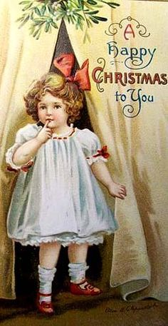 """""""A Happy Christmas to You"""" ~ Vintage Christmas postcard Vintage Christmas Photos, Old Christmas, Old Fashioned Christmas, Christmas Scenes, Victorian Christmas, Retro Christmas, Vintage Holiday, Christmas Pictures, Xmas"""