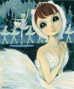 Swan Lake ballet in Anime style Manga Anime, Old Anime, Manga Art, Anime Art, Pretty Art, Cute Art, Macoto Takahashi Art, Chibi, Mermaids And Mermen