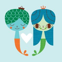mermaid friends