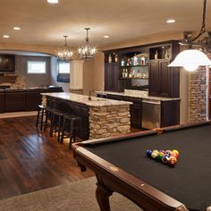 Basement Design -the pool table is a requirement