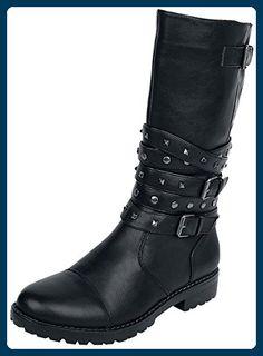 Black Premium by EMP - High Studded Strap Boot - Boots - schwarz RVzl3s