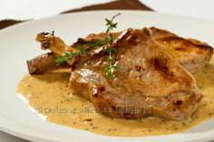 Pork Cutlets with Creamy Mustard Sauce from Christine's Recipes