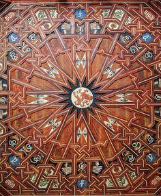 Mudejar ceiling of Monasterio de San Juan de los Reyes, Toledo, Spain by Nikthestoned