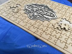 Jigsaw Personalised Guestbook – Wooden Wares