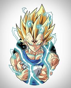 Majin Vegeta, Dragon Ball Z Dragon Ball Gt, Dragon Z, Z Tattoo, Ball Drawing, Susanoo, Anime Tattoos, Obi Wan, Chewbacca, Drawing Tips