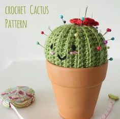 Crochet Cactus Pin Cushion