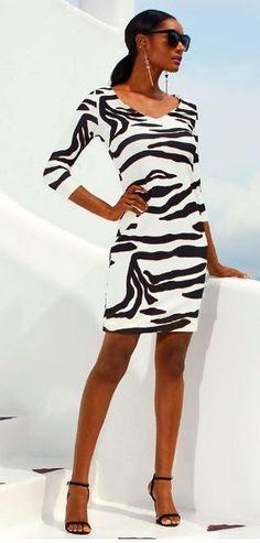 cef15e0cf61 Beyond Travel™ ZEBRA DRESS from  BostonProper ~ Today s Fashion Item   TravelDress