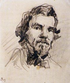 Cezanne Portrait de Delacroix