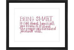 "Man Repeller x One Kings Lane ""On Being Smart"" wall art"