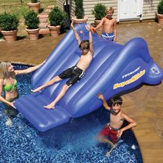 A Super-Exciting Water Slide for Your Backyard's Swimming Pool!