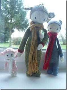 mini LUPO, DIRK & FIBI made by Katia M. / crochet patterns by lalylala