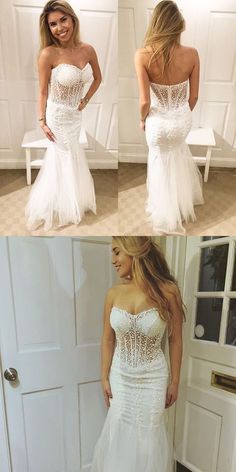 White Beading Prom Dresses,Mermaid Prom Dress with Open Back,Long Formal Party Mes Dress Prom Dresses For Teens, Pink Prom Dresses, Mermaid Evening Dresses, Homecoming Dresses, Wedding Dresses, Beaded Prom Dress, Sexy Party Dress, Party Gowns, Bridal Gowns