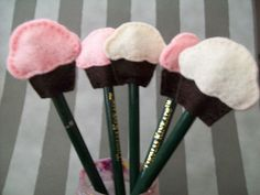 pencil toppers for room. My version looks nothing like this.