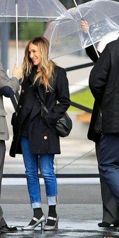 Sarah Jessica Parker, Color Combinations, Winter Jackets, My Style, City, Outfits, Fashion, Tights, Accessories