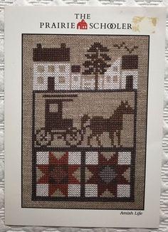 The Prairie Schooler Amish Life Cross Stitch Pattern Chart Primitive Farm 1985 54939400059 Cross Stitch House, Cross Stitch Charts, Cross Stitch Designs, Cross Stitch Patterns, Diy Christmas Ornaments, Christmas Cross, Cross Stitching, Cross Stitch Embroidery, Stitch Delight