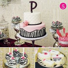Elegant Baby Shower Decorations | Baby Shower Elegant Pink Zebra