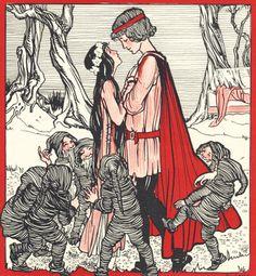 """""""Sneeuwwitje"""" (Snow White) by Illustrator Rie Cramer (1887-1977), 1925, de Haan, Utrecht. (8/8) iL #SnowWhite #FairyTale"""