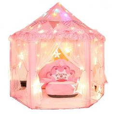 Dealgadgets Princess Castle Kids Play Tent Children Large Indoor and Outdoor Playhouse Perfect Birthday Chistmas Gift Presents For Child Toddlers Pink >>> Click image for more details. Playhouse Outdoor, Outdoor Play, Tent Weights, Little Backpacks, Tent Accessories, Kids Winter Fashion, Princess Castle, Presents For Kids, Games For Girls