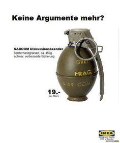 Ikea Kabom Diskussionsbeender. Die ideale Ergänzung zu Kloppe und Knarre