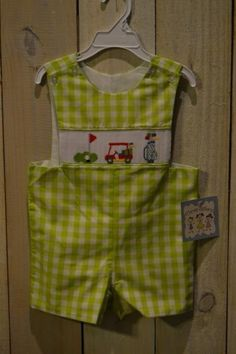 Golf smocked outfit