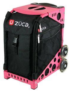 Zuca Sports Bundle With Obsidian Black Insert Bag & Pink Frame Rolling Bag, Rolling Backpack, Zuca Bag, Figure Skating Dresses, Roller Derby, Bag Organization, Ice Skating, Jackson, Frame