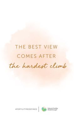 the best view comes after the hardest climb fertility quotes infertility inspiration ttc quotes View Quotes, Quotes To Live By, Best Quotes, Good Things Quotes, Inspire Quotes, Change Quotes, Famous Quotes, The Words, Faith Quotes
