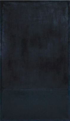 Mark Rothko, oil on paper laid on canvas, 1969