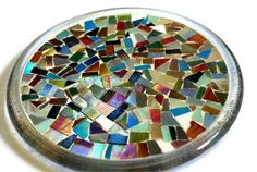 Mosaic trivet - crazy glass!