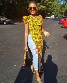 L'africain Bayanda imprimer haut Ankara 100 % coton fait main Disponible en tailles et imprimé différent #AfricanFashion