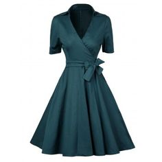 SHARE & Get it FREE | V  Neck Vintage Low Cut Wrap DressFor Fashion Lovers only:80,000+ Items·FREE SHIPPING Join Dresslily: Get YOUR $50 NOW!