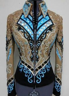 Beautiful jacket - great pattern, from black to tan, with black chaps