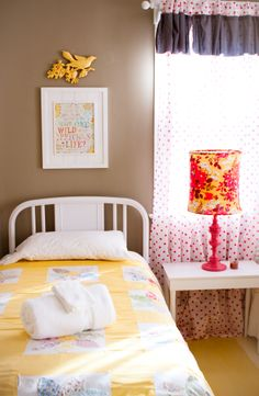Love the curtains and lamp & everything!