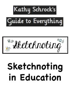 Resources to get your students and you started with sketchnoting.