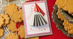 Haitaripukuinen tonttukortti Cookies, Desserts, Food, Crack Crackers, Tailgate Desserts, Deserts, Biscuits, Essen, Postres