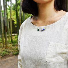 #sodalite #bluechalcedony #chrysoprase #malachite #silver #necklace by #helenarohner